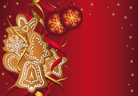 Christmas gingerbread templates Vector