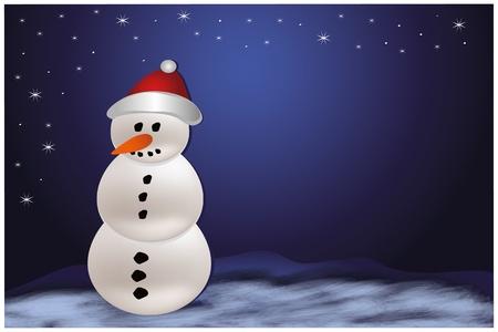Christmas snowman xmas template Stock Vector - 10412995