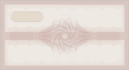 raster Voucher Guilloche coupon rose pink certificate template security spirograph photo
