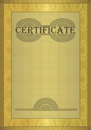 prospectus: raster Certificate gold ornament frame  Stock Photo