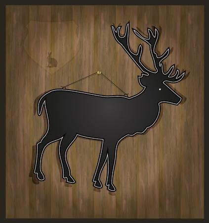 raster Blackboard deer menu card photo