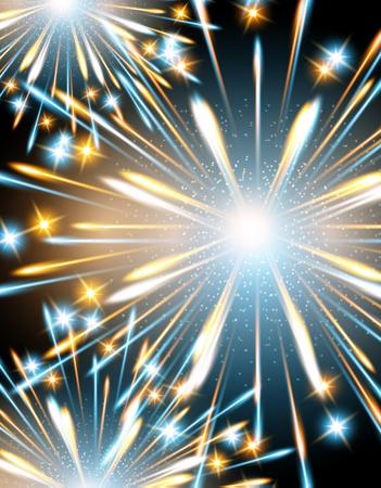 background fireworks blue Vector