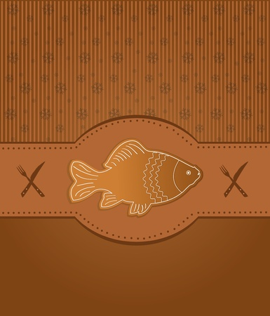 raster menu card gingerbread fish carp photo