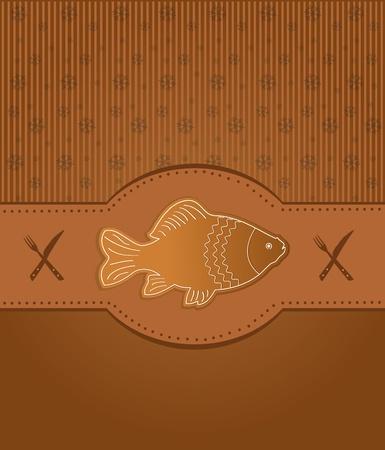 raster menu card gingerbread fish carp Stock Photo - 11308649