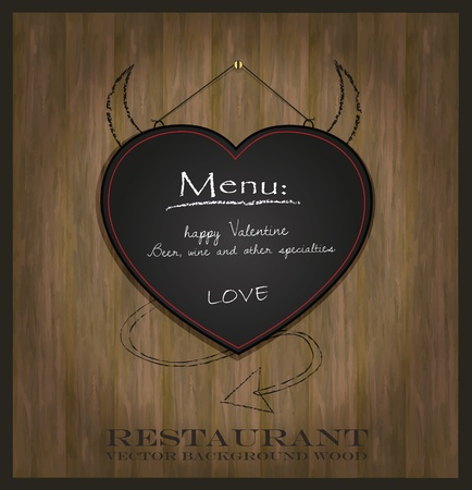 vector blackboard heart Valentine love black Vector