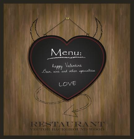 specialty: vector blackboard heart Valentine love black Illustration