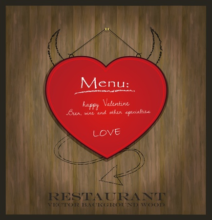 vector blackboard heart Valentine love red Vector