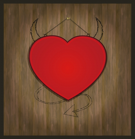 raster blackboard heart Valentine love red photo