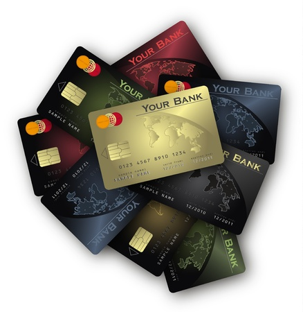 vector Credit card Colors collection Vector