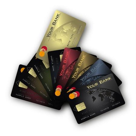 vector Credit card fan horizontal Vector