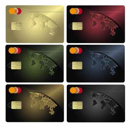 raster Credit card collection photo