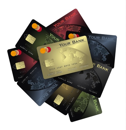 raster Credit card Colors collection Stock Photo - 11808441