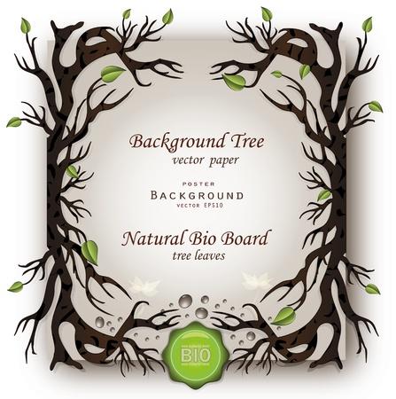 vector Bio background tree Stock Vector - 12062548