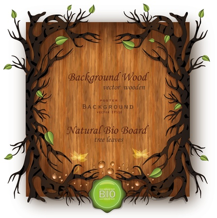 vector Bio background Wood Vector