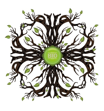 vector Bio tree icon Vector