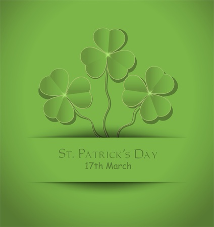 vector St. Patrick Day Shamrock card green Stock Vector - 12208888