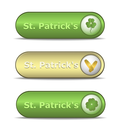 web button St. Patrick Stock Vector - 12208882