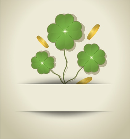 raster St. Patrick Day Cloverleaf card paper  Stock Photo - 12208881