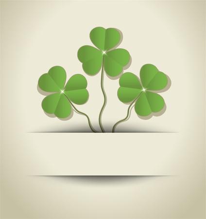 St. Patrick Day Shamrock card paper raster Stock Photo