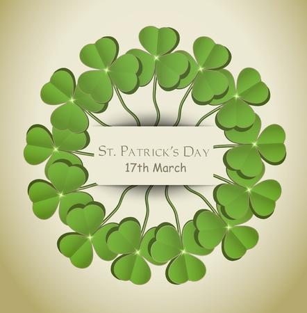vector St. Patrick day circle  Vector