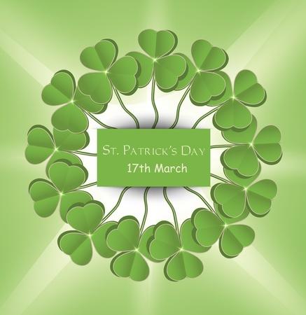 vector St. Patrick day circle green Stock Vector - 12208900