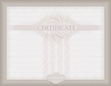 raster Certificate Guilloche horizontal security  photo