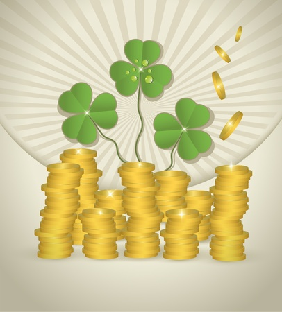 raster St. Patrick day money coin  photo