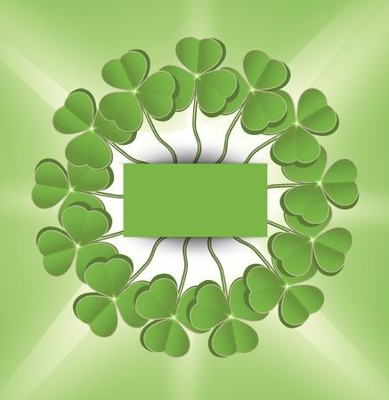 raster St. Patrick day circle green Stock Photo - 12208895