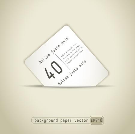 prospectus: background paper card