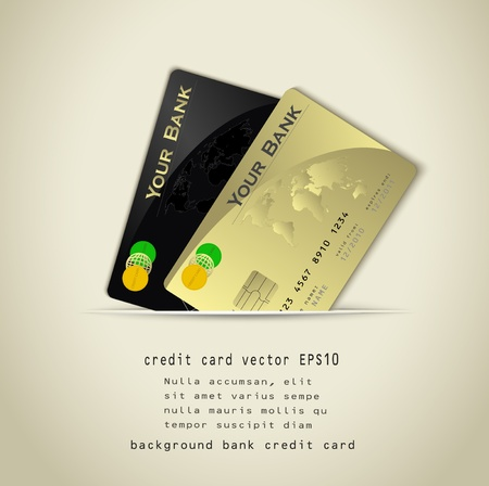 credit card background Vector