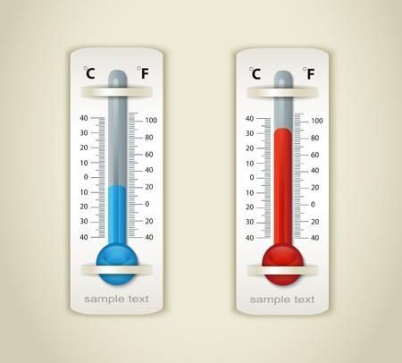 hot temperature: term�metro de la placa Vectores