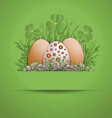 raster Easter Egg green photo