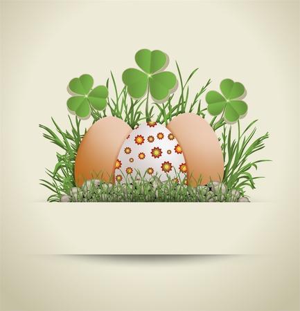 religion  herb: raster Easter Egg paper Stock Photo