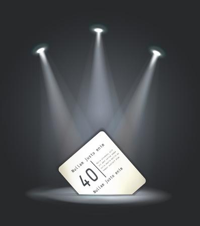 reflector: vector reflector light paper card