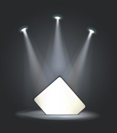 reflector: raster reflector light paper card  Stock Photo