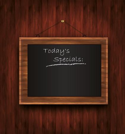 specials: raster blackboard wooden menu Todays special