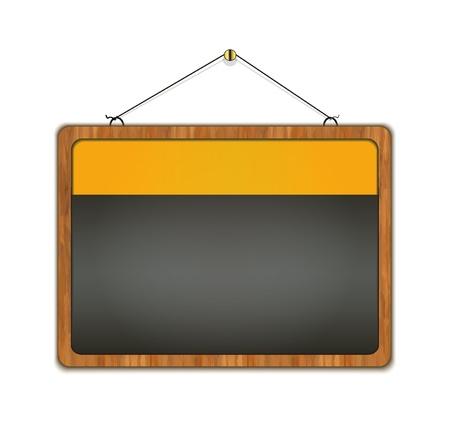 specials: blackboard wood frame menu raster Stock Photo