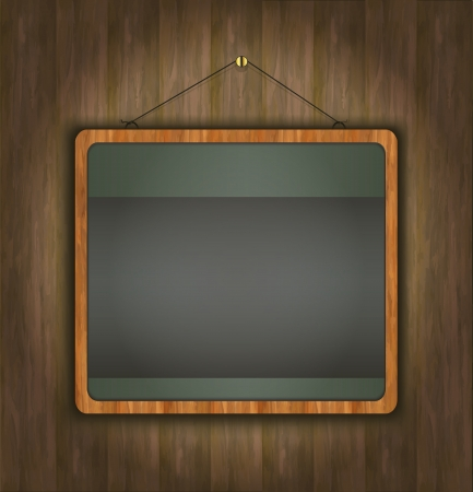 blackboard wood frame green  Stock Vector - 14030813