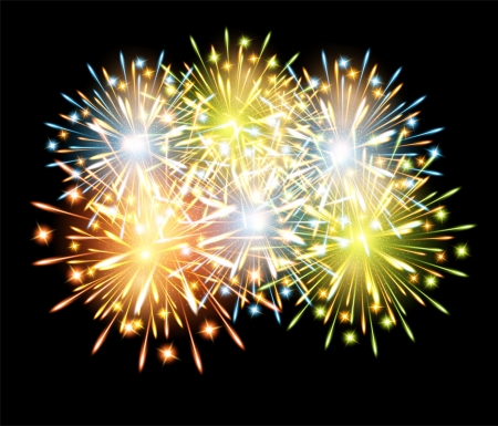 fireworks fire color  Vector