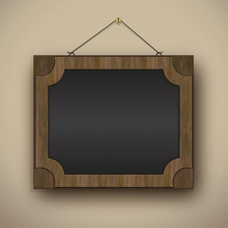 frame old wood blackboard