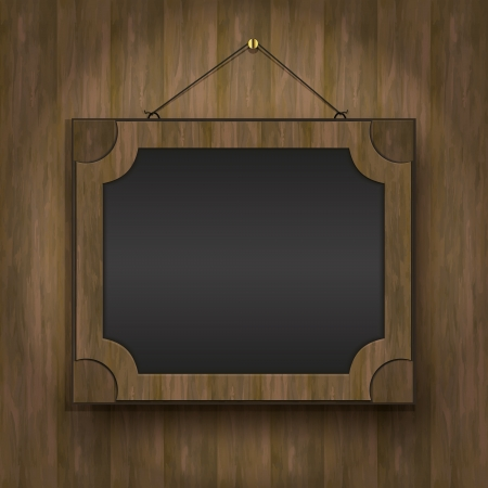 frame old wood blackboard menu restaurant  Vector