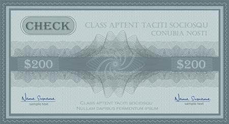 vector check guilloche security coupon blue Stock Illustratie