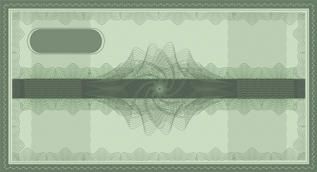 wavelet: raster check guilloche security coupon green Stock Photo