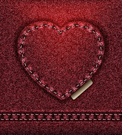 raster Jeans heart red love photo