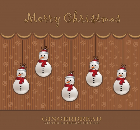 christmas snowman card chocolate Vector