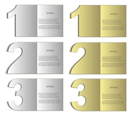 paper card nomer 123 gold silver