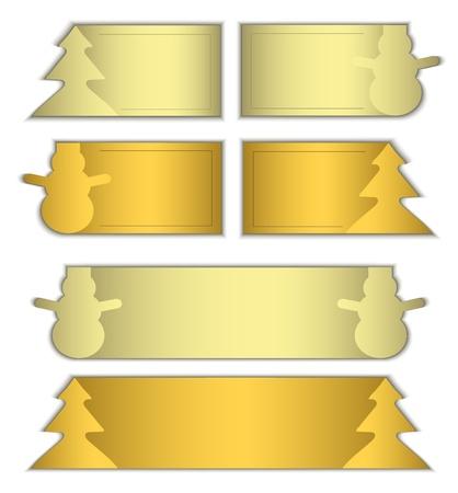 raster paper card label symbol christmas gold  photo