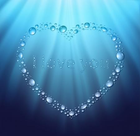 corazones azules: el agua azul del coraz�n gota