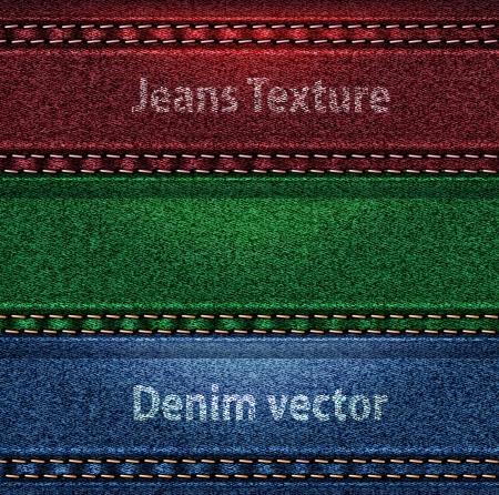jeans texture: trio color denim texture