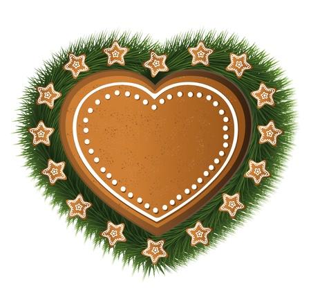 gingerbread heart: Heart gingerbread star tree